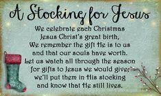stocking for Jesus poem