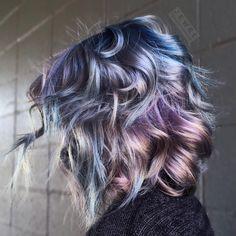 Opal hair - olaplex no. 2 to create pastel metallic shades. #opalhair #joico #pravana
