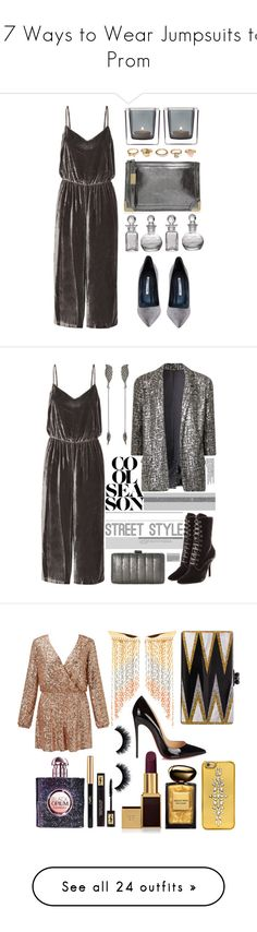 """""""17 Ways to Wear Jumpsuits to Prom"""" by polyvore-editorial ❤ liked on Polyvore featuring jumpsuits, Madewell, Manolo Blahnik, Foley + Corinna, Leonardo, Forever 21, Cultural Intrigue, Federica Tosi, Alberta Ferretti and Jessica McClintock"""