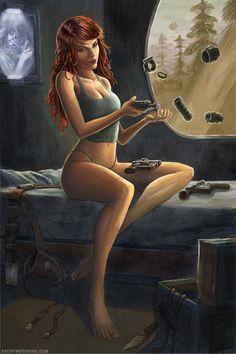 Mara Jade Skywalker by BrentWoodside