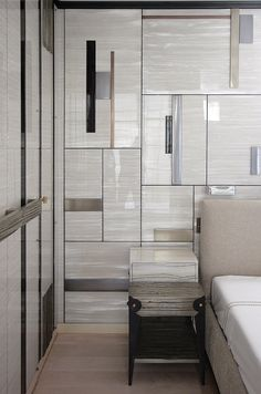Pearly Resin and Liquid metal inlays Wardrobe and Bedside Table
