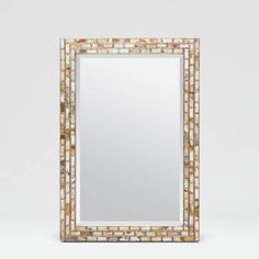 Deborah Mirror in White Horn Tiles With Silver and is it ever a looker!   This is just gorgeous!