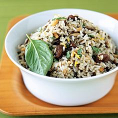 Lactose intolerance Thanksgiving guest? Make this Nutty Brown Wild Rice. This quick and easy recipe is packed with festive fall flavors. The tangy cherries provide a boost of heart-healthy antioxidants. | Health.com
