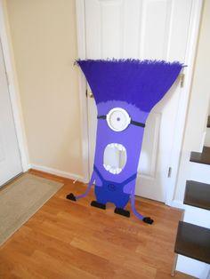 Purple Minion bean bag toss