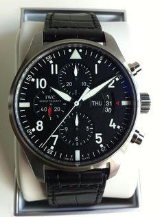 IWC Pilot's Chronograph Automatic Gentlemans Club, Dream Watches, Cool Watches, Iwc Pilot Chronograph, Iwc Watches, Luxury Watches For Men, Automatic Watch, Omega Watch, Mens Fashion