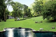 A pool that looks like a natural pond, yes please! | Best Swimming Pools : Architectural Digest
