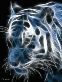 Téléchargez en un clic notre logo animé pour portable gratuit: Tigre électrique