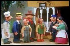 Mickey Murphy, the Baker; Mr Carraway, the Fishmonger; Windy Miller; Peter the Postman. Camberwick Green.