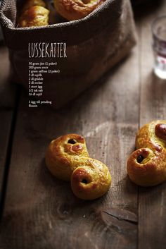 "Lussekatter or Swedish ""Lucia cats"" recipe"