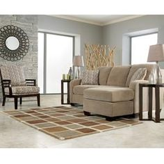 Chair and a half brown sofas and loveseats on pinterest for Ashley circa sofa chaise