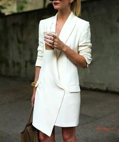 Summer Outfit - Power Suit by Atlantic - Pacific Blazer Dress, Jacket Dress, Dress Jackets, Coat Dress, Traje Casual, Girl Fashion, Womens Fashion, Fashion Trends, Fashion Clothes
