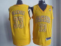 Indiana Pacers  33 Danny Granger Revolution 30 Swingman Yellow NBA Jerseys 63dd25fe8