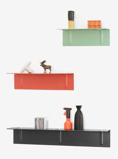 'Brackets Included' shelves by Sylvain Willenz for Wrong for Hay