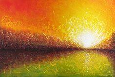 "Abstract Art | ... Bursting Sun"" - Abstract Landscape Painting |Cianelli Studios Art Blog"