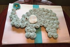 Baby Blue Elephant Cake – Perfect for a baby shower or birthday! gray and blue elephant baby shower cake Elephant Cupcakes, Elephant Baby Shower Cake, Elephant Birthday, Baby Boy Shower, Baby Shower Gifts, Elephant Party, Elephant Theme, Baby Shower Cupcake Cake, Baby Shower Cake Designs
