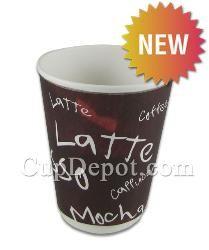 Karat® 12oz Insulated Paper Hot Cups - 90mm, 500pcs/case