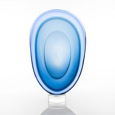 TIMO SARPANEVA - Art glass sculpture at studio Pino Signoretto (h. 57 cm), Murano 2000, Italy. - A Finnish designer.