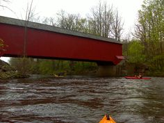 Eagleville Covered Bridge over the Battenkill River in the town of Salem, NY in Washington County