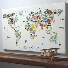 Animal World Map Print from notonthehighstreet.com