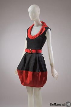 Isabel Toledo, red and black linen and knit Packing Dress, spring/summer USA [content:shareblock]Museum purchase Old School Fashion, 80s Fashion, Fashion History, Runway Fashion, Fashion Looks, Vintage Fashion, Isabel Toledo, Dapper Day, Online Collections