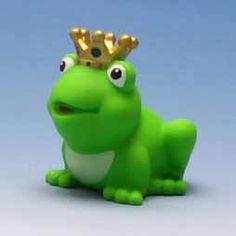 Froschkönig mit goldener Krone