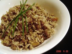 Onion Lentils and Rice
