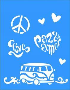 Stencil Paz e Amor 20x25 - OPA