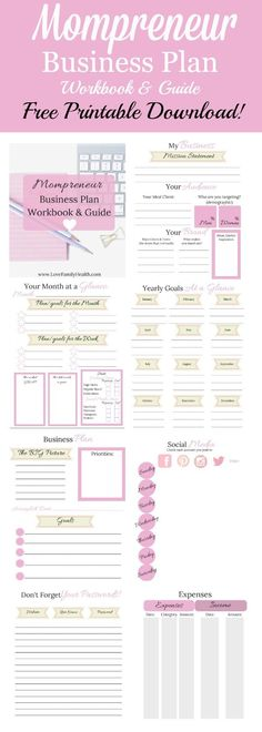 Get your FREE Mompreneur Business Plan, Workbook and Guide