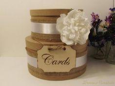 rustic wedding card box idea