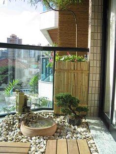 White stones and bonsai, clean