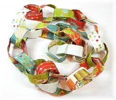 Reusable fabric countdown to Christmas chain