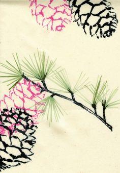 Nature from Luli Sanchez - print on cloth Textures Patterns, Print Patterns, Hippie Chic, Textiles, Nature Prints, Textile Artists, Watercolor Print, Painting Inspiration, Illustration Art