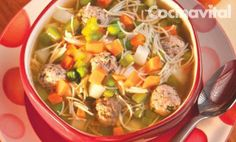 Sopa De Albóndigas en Pinterest | Sopas, Recetas De Sopa y Sopa De ...