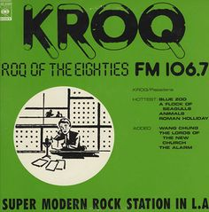 KROQ 80s flashback danceparty for my Cali peeps.