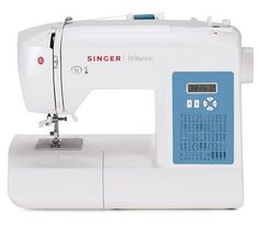 This Singer Sewing Co Brilliance Sewing Machine With Automatic Needle Threading creates fun projects like clothing, handbags and more with this machine.