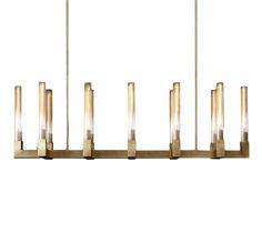 """Restoration Hardware Modern Design   Cannele 54"""" linear chandelier in burnished…"""