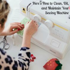 Remember: You should clean and oil your sewing machine depending on how much you use it and the types of fabric you sew.