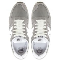 New Balance 420 Gray Vintage Sneakers (2.200 CZK) found on Polyvore