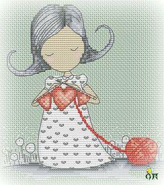 Pattern for cross stitch Aida 14, mint Size 80*90 ( 15*16 cm) DMC palette , 8 colors + blends embroidery technic : cross , 3/4 , bekstich,