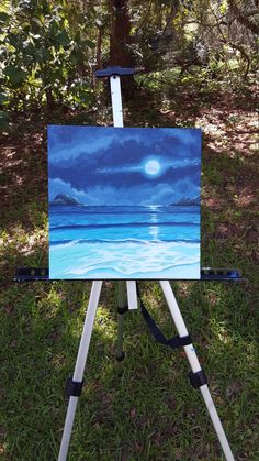 Handpainted  Original Ocean Landscape by FortheLightCreations