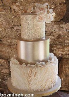 Cream Wedding Cakes, Big Wedding Cakes, Elegant Wedding Cakes, Beautiful Wedding Cakes, Wedding Cake Designs, Beautiful Cakes, Amazing Cakes, Wedding Cake Gold, Wedding Themes