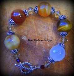 Tiger eye,Carnelian,Burgundy Bead,Crystals and Sterling Silver | BEADFASHIONDESIGNS - Jewelry on ArtFire