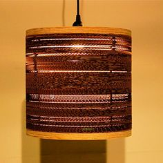 Corrogated Hanging Light now featured on Fab.