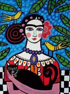 Mexican Folk Art  Mexican Folk Art Decor Frida von HeatherGallerArt, $24,00