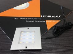 LED Ultra-thin Cabinet Light Surface Mounted. Material: PMMA / Aluminium,                                                                                                                                                                                                             Size: 80*80*H4mm