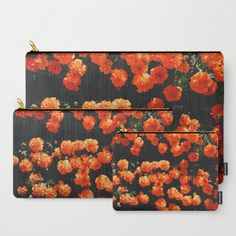 Orange Bloom Carry-All Pouch by Mixed Imagery | Society6