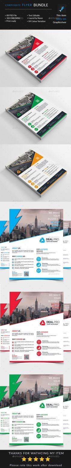 Corporate Flyer Bundle in - Flyers Print Templates Corporate Flyer, Corporate Business, Print Design, Graphic Design, Flyer Printing, Print Templates, Flyer Template, Flyers, Graphics