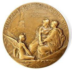 Union Franco-Américaine avers médaille Roty - Statue de la Liberté — Wikipédia