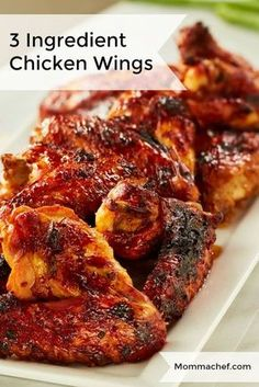 Grilled Chicken Wings, Grilled Chicken Recipes, Chicken Wings In Oven, Oven Wings, Crockpot Chicken Wings Bbq, Asian Chicken Wings, Chicken Wing Sauces, Bbq Wings, Oven Baked Wings