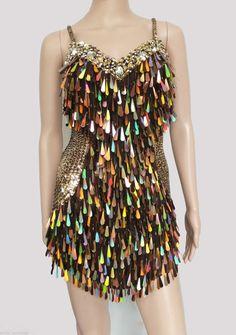 Latin Salsa Showgirl Dance Drag Queen Samba Party Vegas Dress XS-XL
